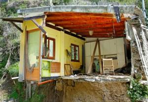 Home Affected By A Landslide