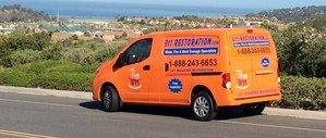 Sewage Backup Long Beach Van Driving To Job Location